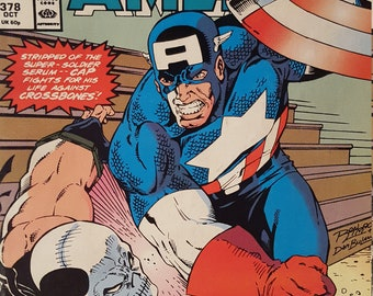 Comic grab captain america 378 and warlock chronicles issue 6 very good to fine condition for both