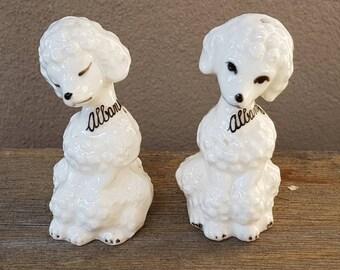 Vintage Poodles Salt And Pepper Shakers , Made in Japan , Vintage Dogs , Kitsch poodle