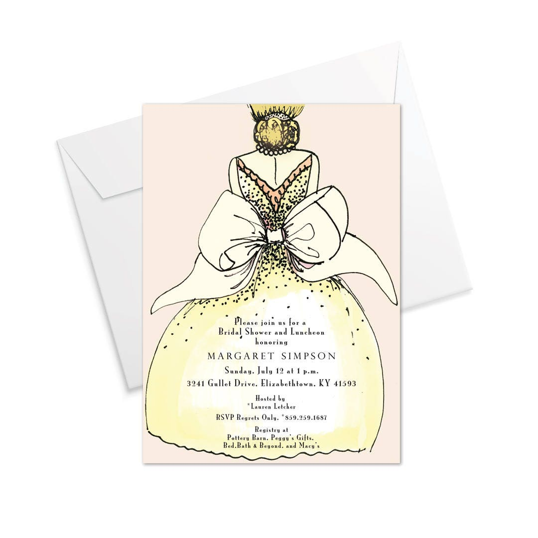 Brides Bow Invitation