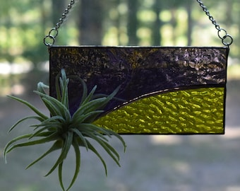 Stained Glass Air Plant Display Suncatcher