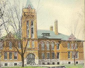 High School WINTERSET Iowa unused vintage postcard