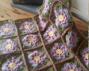 Painted Rose Crochet Baby Blanket