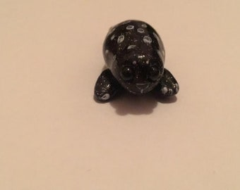 Cute Happy Spotted Seal Polymer Clay Figurine
