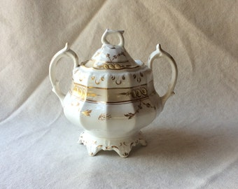 Antique Staffordshire Sugar Bowl