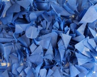 PUFFetti Triangle ONE (1) Favor Bag Sample Scrap Handmade Recycled CONFETTI Birthday Cobalt Blue Starry Night Wedding Prom Graduation Theme