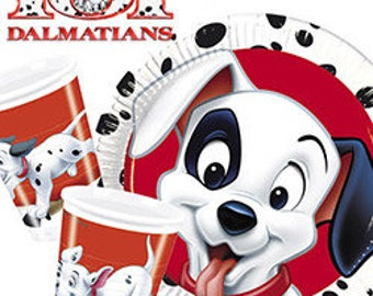 101 DALMATIANS Party Supplies Birthday Decoration Tableware Napkins Plates Cups Tblecover