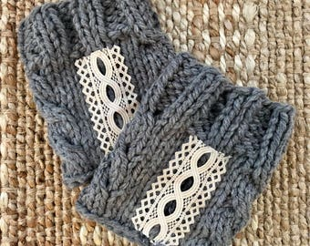 Cabe and Lace Boot Cuffs