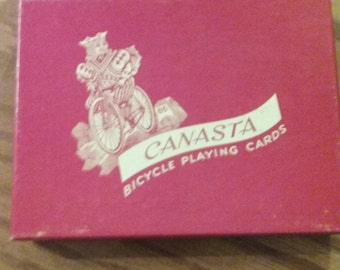 Canasta Bicycle Playing Cards vintage