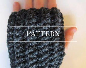 Fingerless gloves crochet pattern, Easy pattern fingerless mitts