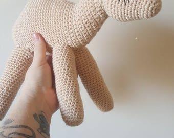 Sale-Handmade crochet stuffed camel, plush camel,