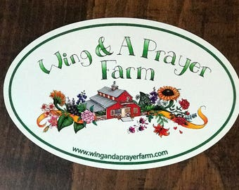 Wing & A Prayer Farm Euro Sticker Farm Logo Decal