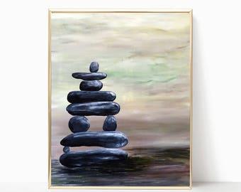Zen Rock Cairn Printable Art