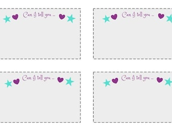 Children's note cards- Can I tell you