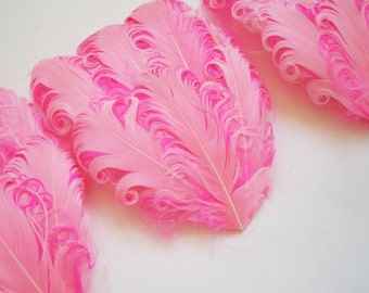 CLEARANCE - Imperfect Light Pink on Hot Pink Feather Pads - 2.75 ea