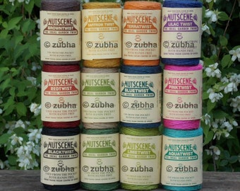 Nutscene Heritage Spool of Twine 110m - 15 Fabulous Colours - Coloured Jute String
