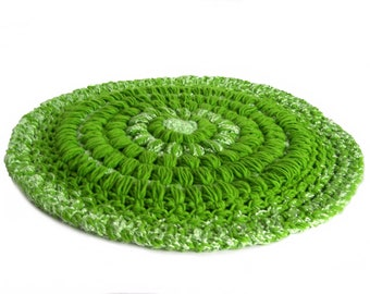 Pet Rug Lime Green 20-Inch Round Cat Rug Dog Rug Reversible Furniture Cover Mat