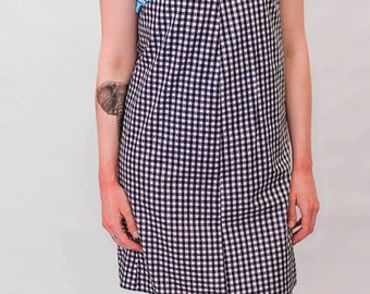 Black and white Gingham print Pinafore