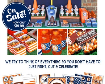 Football Birthday Party | Football Party Decorations | Printable Football Banner | 1st Birthday | Sports Birthday Party | Amanda's Parties