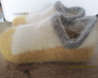 """Machine knitted """"Felted Shoes"""".  Pattern PDF DOWNLOAD"""
