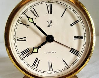 Vintage Alarm Clock JAZ 7JEWELS