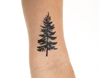 Fir Tree - Temporary Tattoo