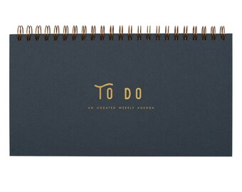 To Do Simple Weekly Planner - Agenda | Desk Planner | Weekly Planner | Undated