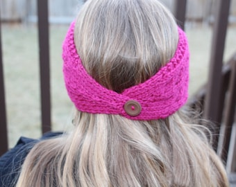 Cabled Ear Warmer Headband Knitting Pattern