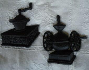 Metal Kitchen wall hangings, Black, Vintage, coffee grinder, cast iron