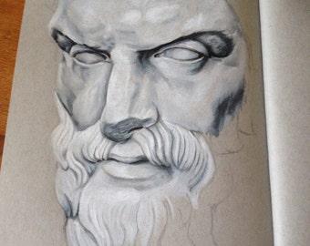 Wisdom - Colored Pencil Portrait
