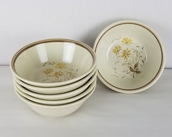Royal Doulton Sandsprite Lambethware 1977 Coupe Cereal Bowl Total of 6 bowls