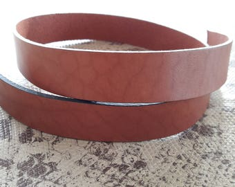 20 mm flat Brown marble of high quality European leather strap