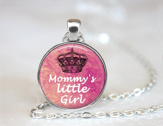 Little girl necklace mommys little girl pendant tiara aloadofball Images