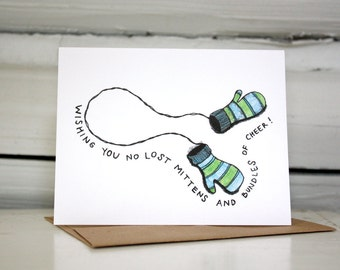 Holiday Card Set with Mittens