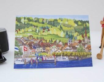 Greeting Card: Landsgemeindeplatz, Altstadt Zug