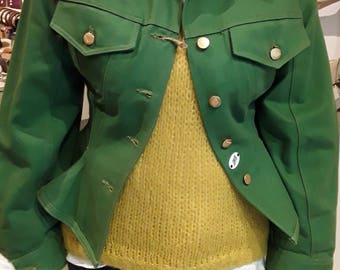 Jean Paul Gualtier Junior Gaultier 80' green jeans jacket