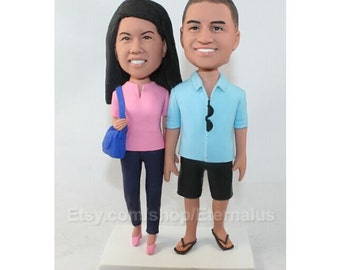 Personalized Wedding Cake Topper , Bride and Groom Wedding Cake Topper, Customized Wedding Cake Topper