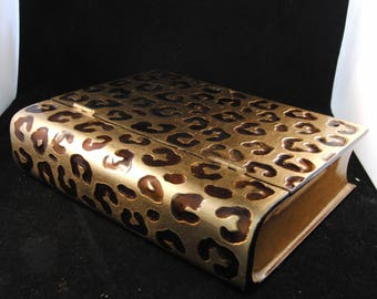 Vintage jewelry box book shaped