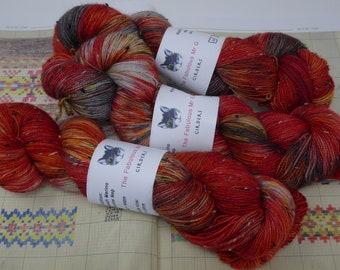 Girders: Hand Dyed Yarn, Sock Yarn, Crochet Yarn, Shawl Yarn, Hand Dyed Sock Yarn, Donegal Tweed, 4 ply, 100gm,