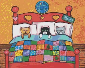 Cat Cross Stitch Kits by Shelagh Duffett counted Cat Cross Stitch Kit Alice in Paris