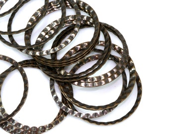 Faceted Ring 60 pcs Antique Brass 25 mm industrial brass Charms,Pendant,Findings 661AB-26
