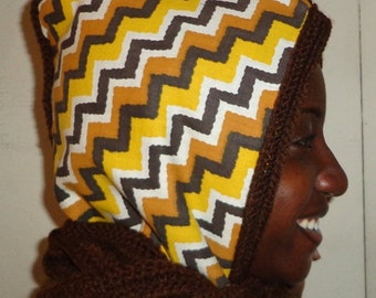Taking It Step by Step, Crochet and Zig Zag Ethnic Fabric Hoodie