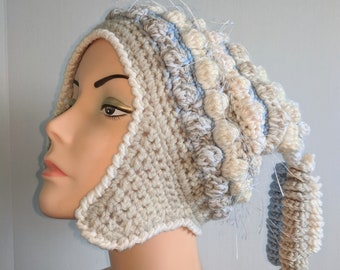 Woolmountain Crochet Hat with Earflaps and Corkscrews Freeform Freestyle