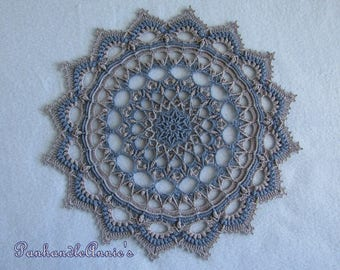 "Handmade Textured Crocheted Doily ""Ygritte"""