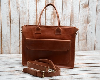 Women's Leather Bag, Leather handbags, leather laptop bag, Laptop bag, Laptop bag women, Leather messenger bag, Leather bags, bag and purse