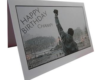 Rocky Balboa Novelty Birthday Greeting Card