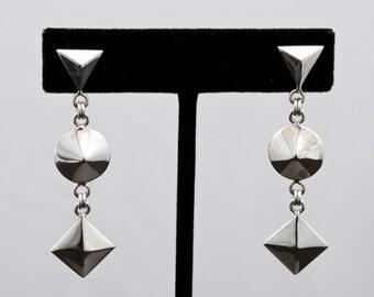 Geo5 - Earrings - Sterling Silver