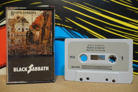 Black Sabbath (RARE Irish Pressing) by Black Sabbath Vintage Cassette Tape