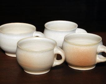 Set of 4 Coffee Cups Tea Cups