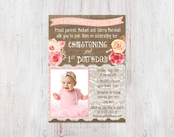 Christening and 1st birthday invitations bautizo 1er cumple filmwisefo