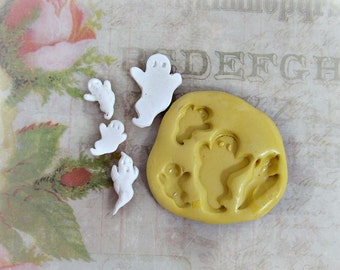 ghost mold,flexible Silicone mold,push mold, food supplies mold, clay supplies molds, # 31s